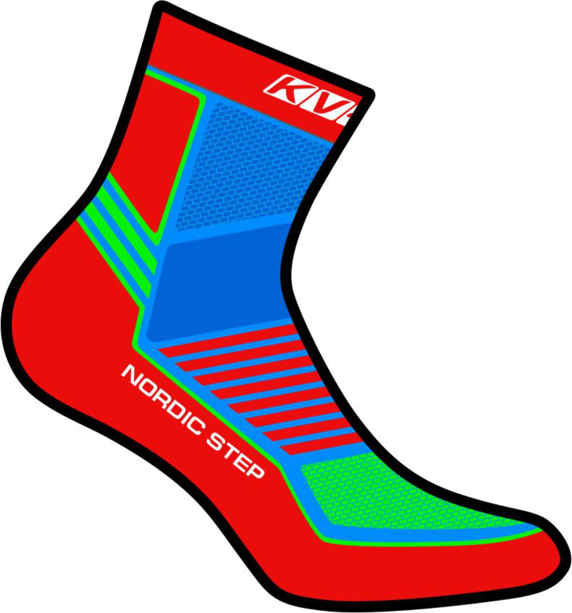 NORDIC STEP SOCKS UNISEX (red)