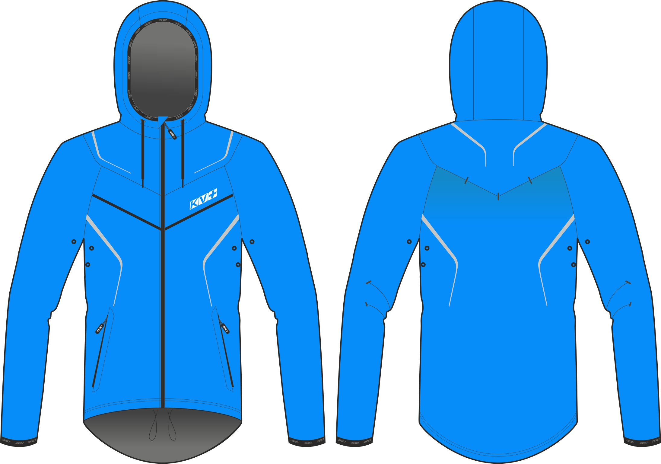 BREEZE JACKET UNISEX (WINDPROOF) (blue)