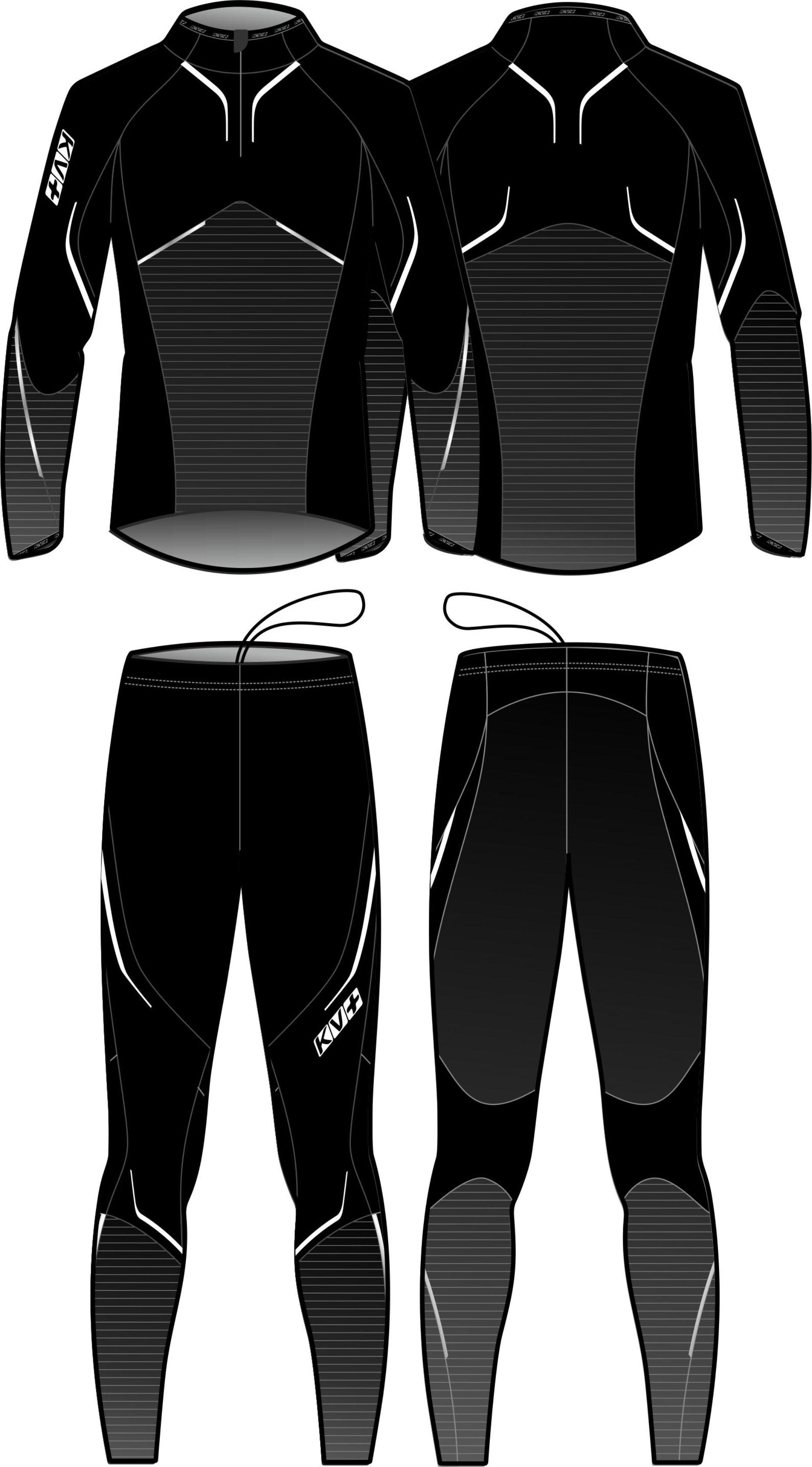 PREMIUM TWO PIECES SUIT UNISEX (black)