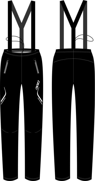 CLUB PANTS UNISEX full side zip with bibs (3)