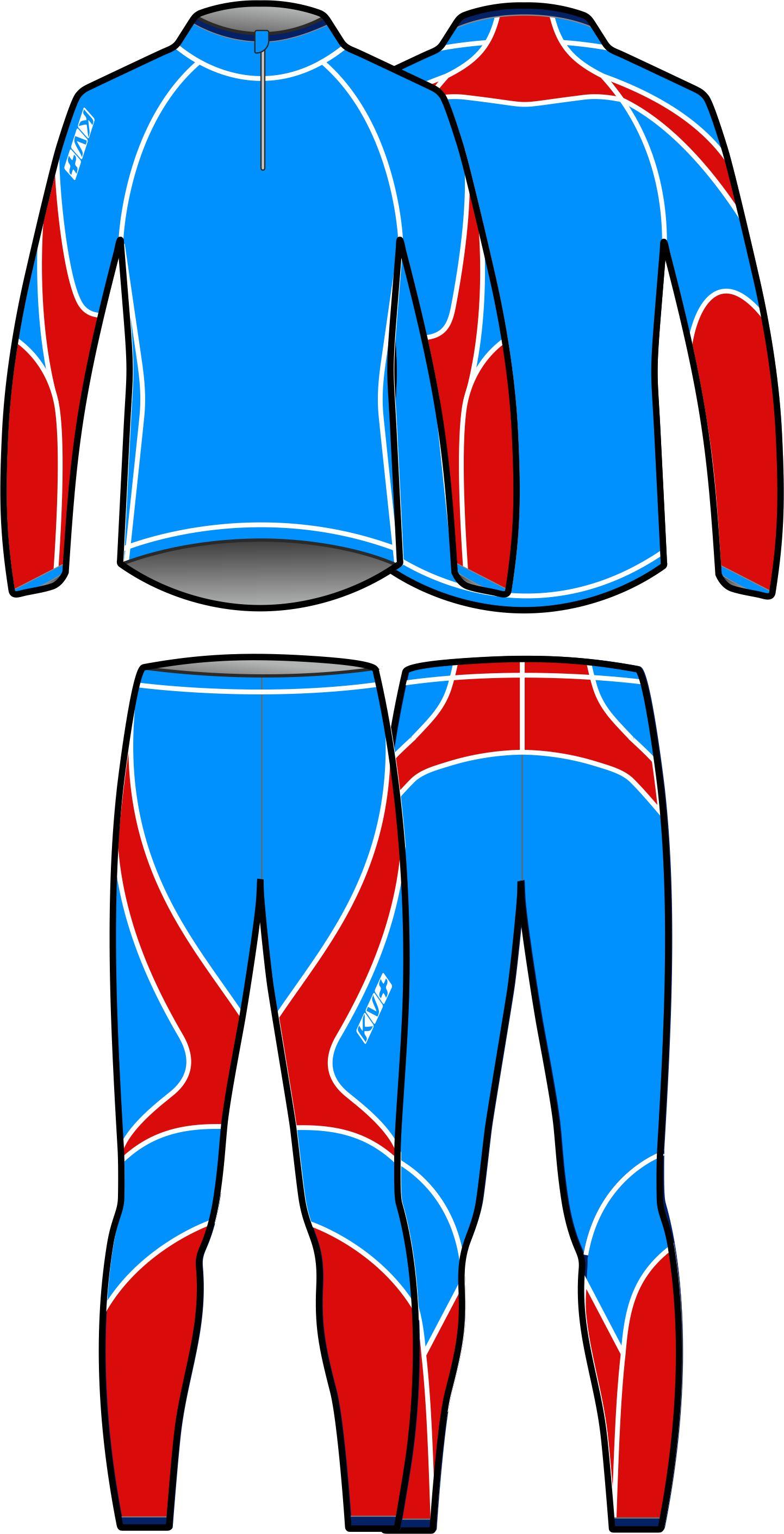 LAHTI TWO PIECES SUIT UNISEX (blue/red)