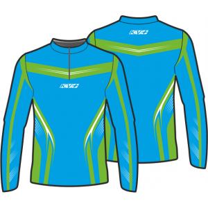 SPRINT JERSEY UNISEX with front zipper (blue/green)