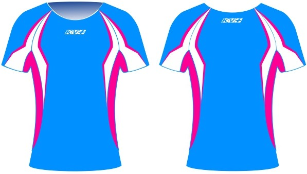 SPRINT T-SHIRT woman (blue/pink)