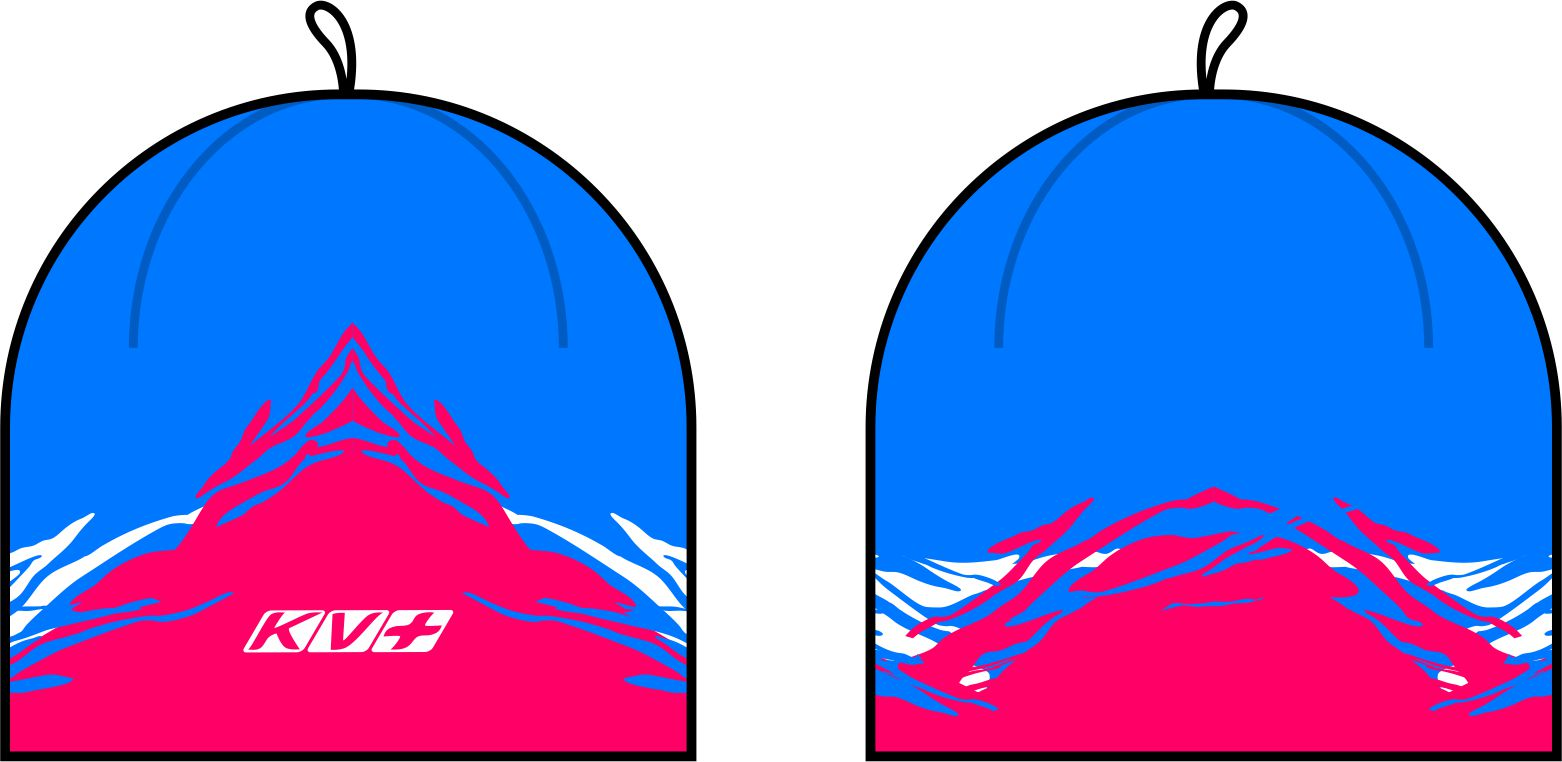 TORNADO HAT (blue/pink)