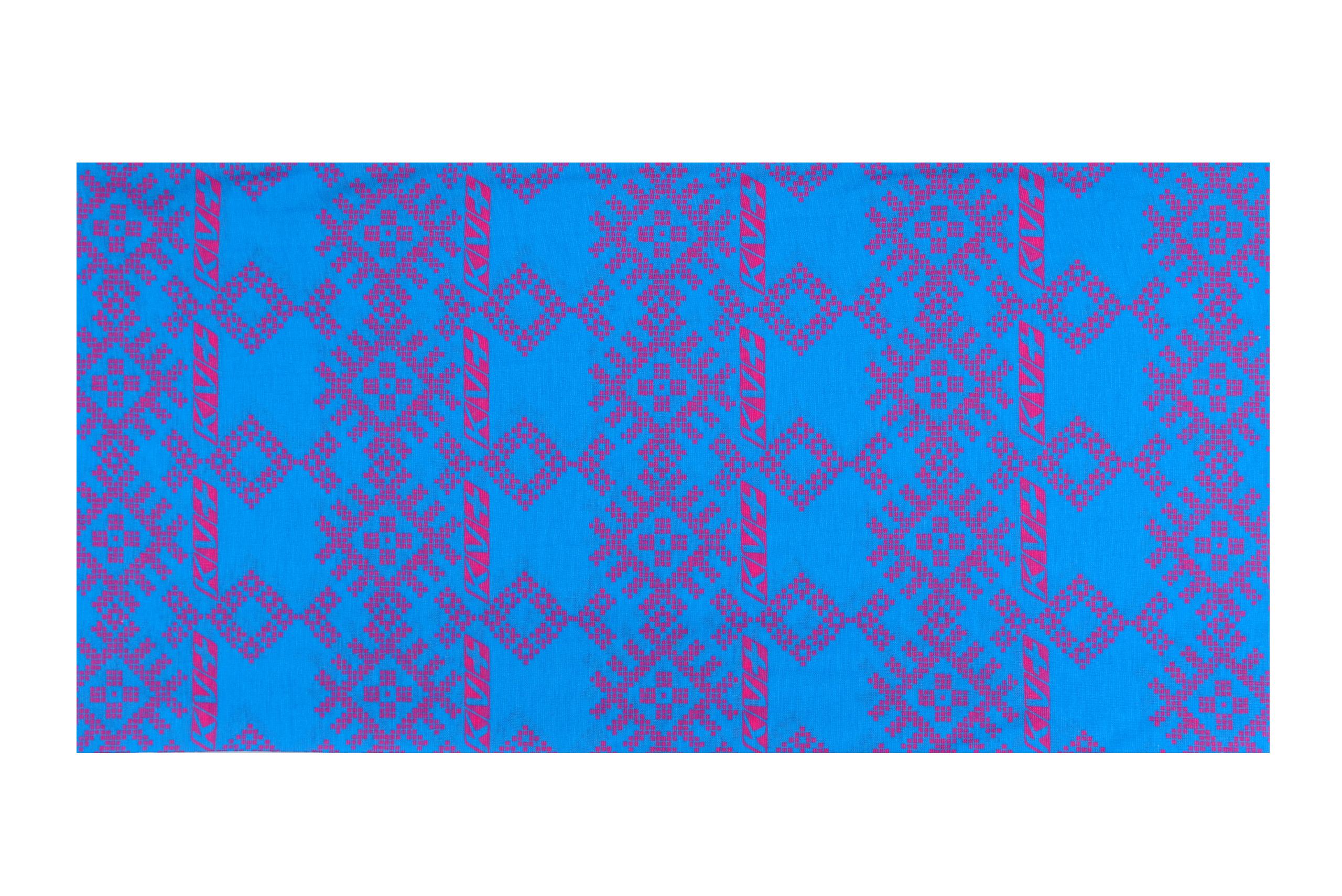 BANDANA  LAPLAND (blue/pink)