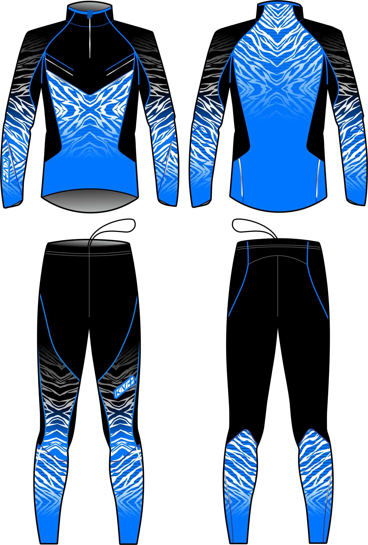 TORNADO TWO PIECES SUIT UNISEX (blue/black)
