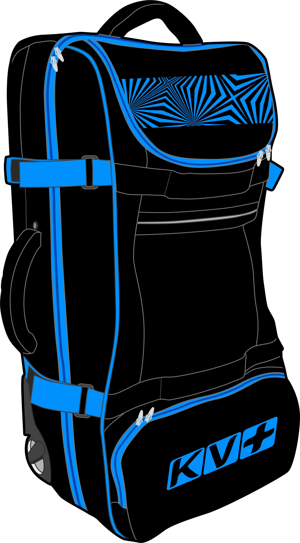 BIG TROLLEY BAG (black/blue)