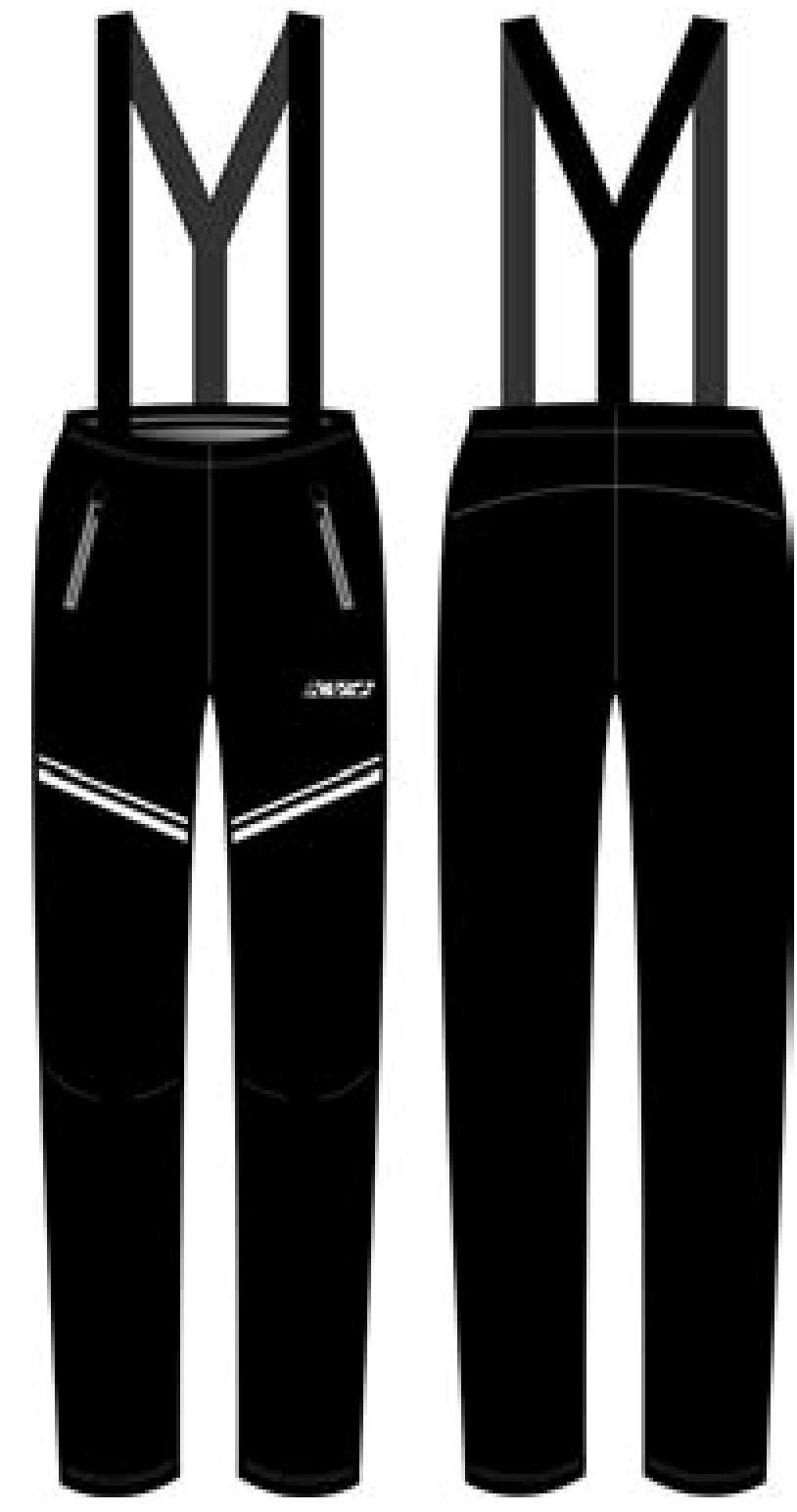 CLUB PANTS UNISEX full side zip with bibs (1)