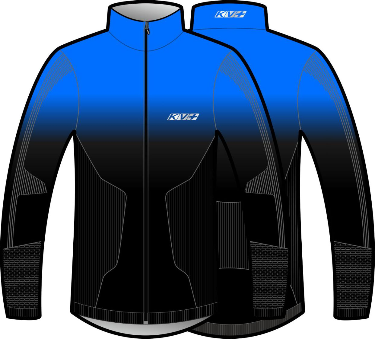 SEAMLESS JERSEY UNISEX (blue/black)
