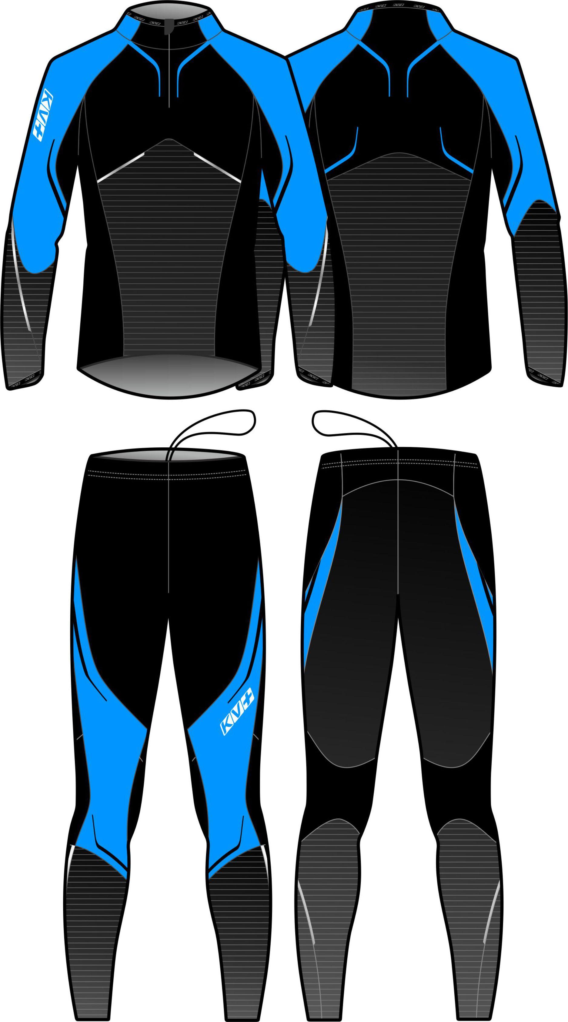 PREMIUM TWO PIECES SUIT UNISEX (blue/black)