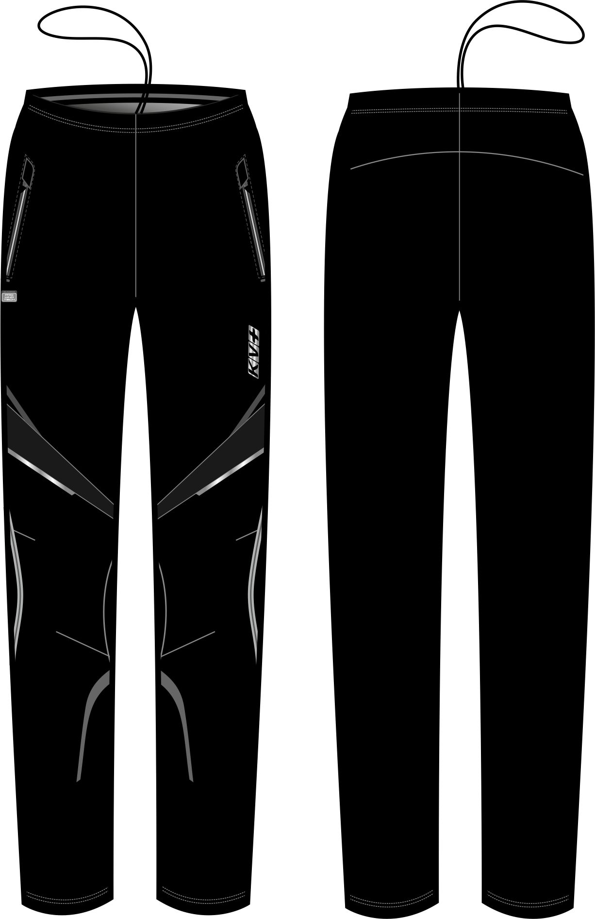 DAVOS PANTS UNISEX full side zip (black)