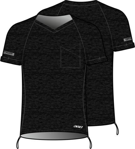 GARDA SHIRT UNISEX without sleeves (black)