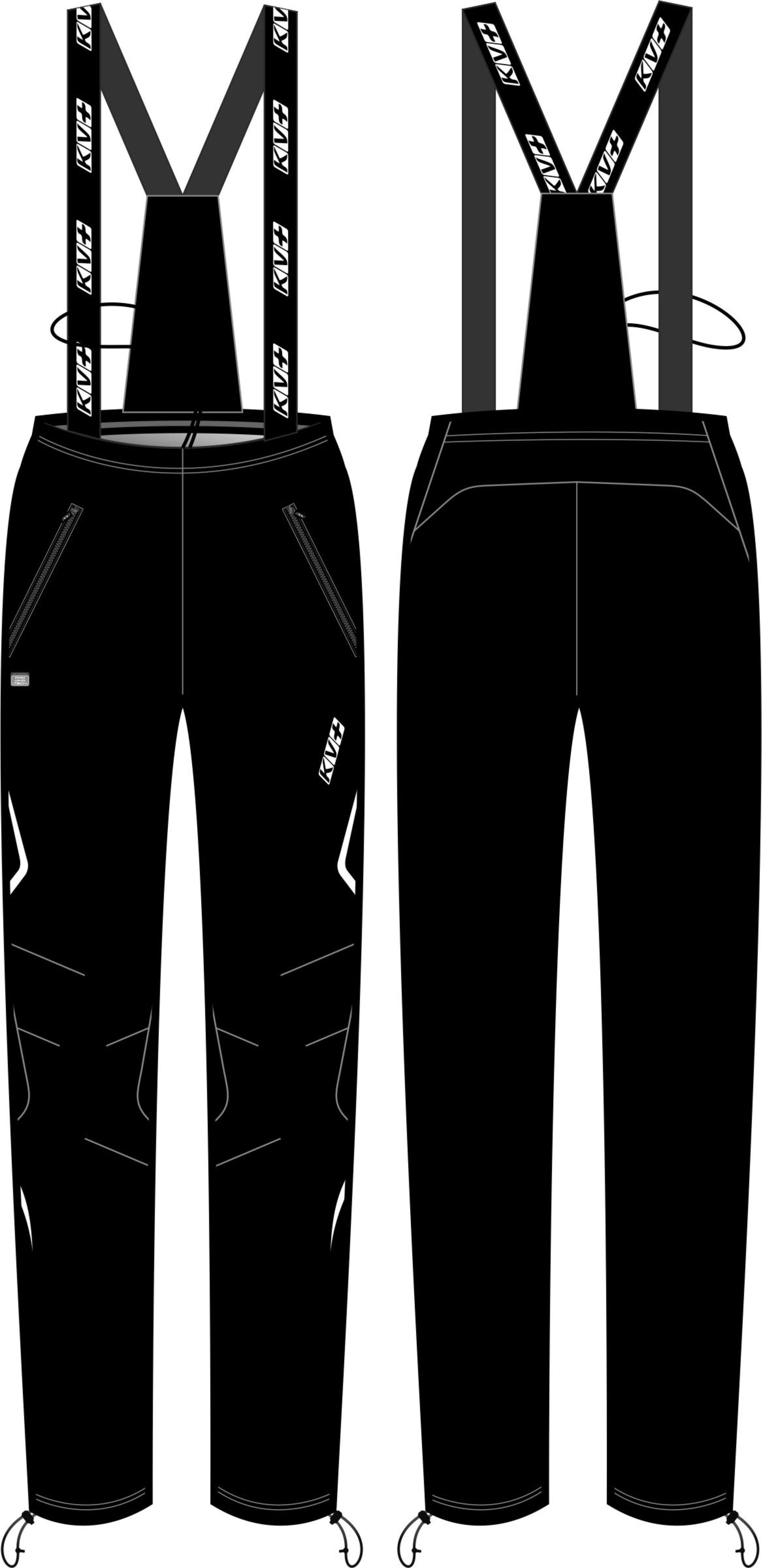 CROSS PANTS UNISEX bib & brace (black)