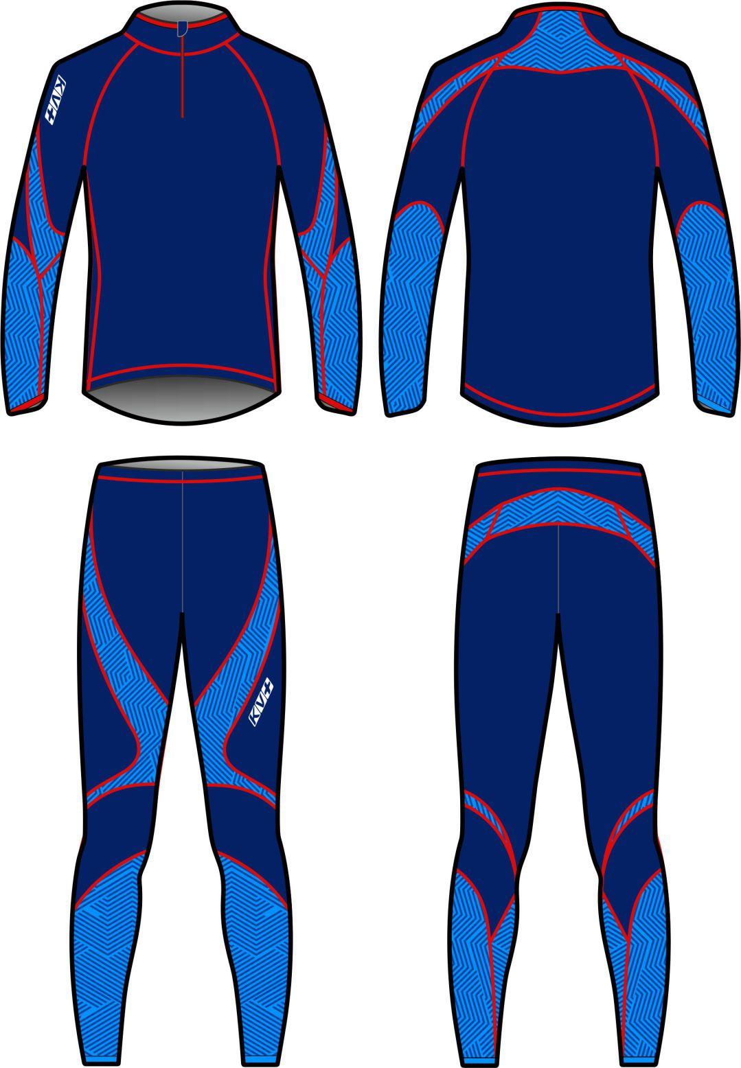 LAHTI TWO PIECES SUIT UNISEX (purple/blue)