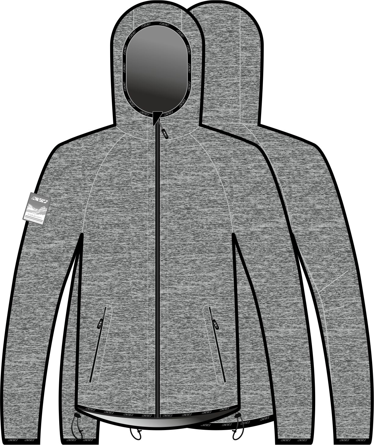 JERSEY FOCA man with hood (gray/black)