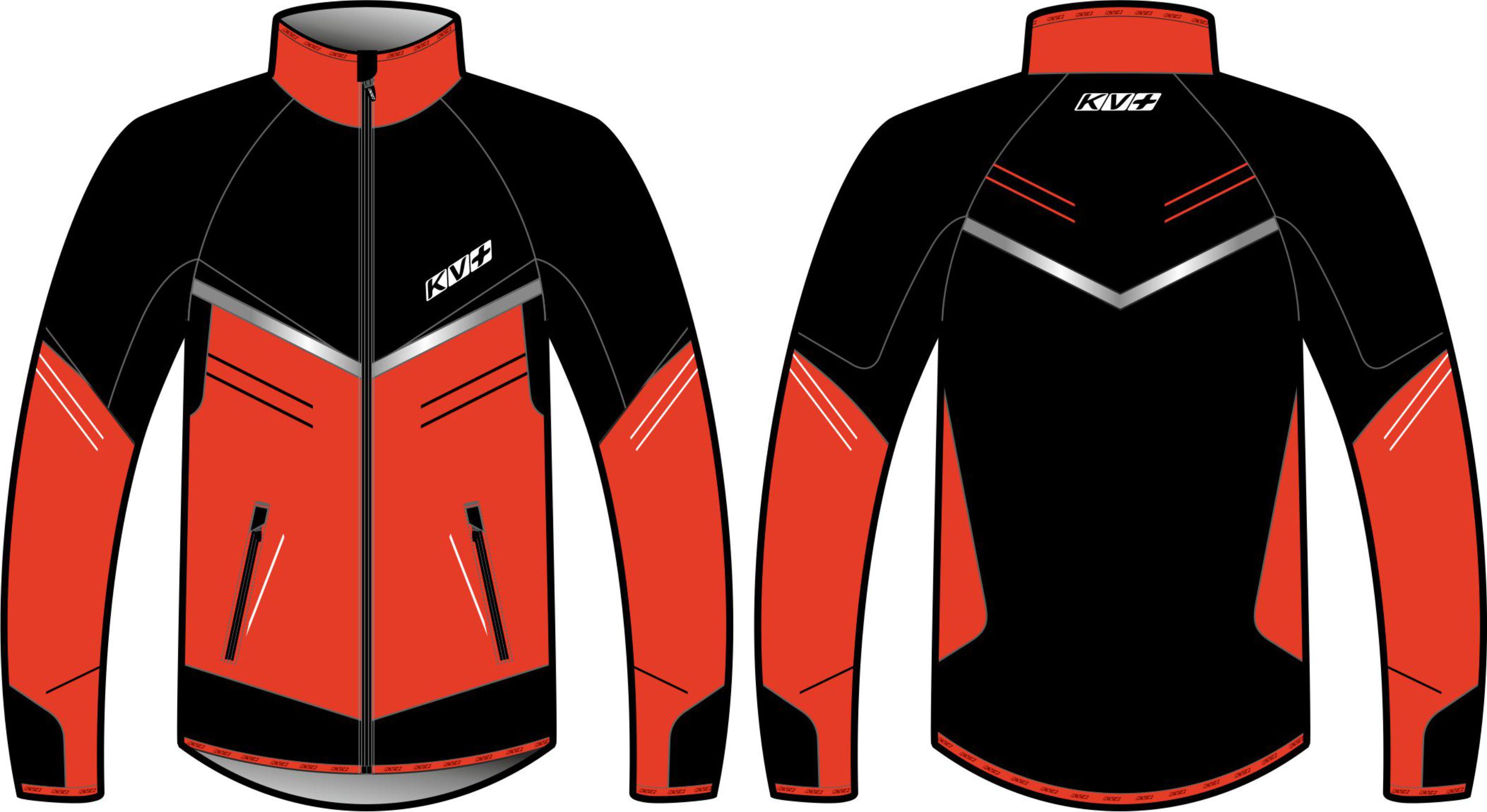 PREMIUM JACKET UNISEX (black/red)