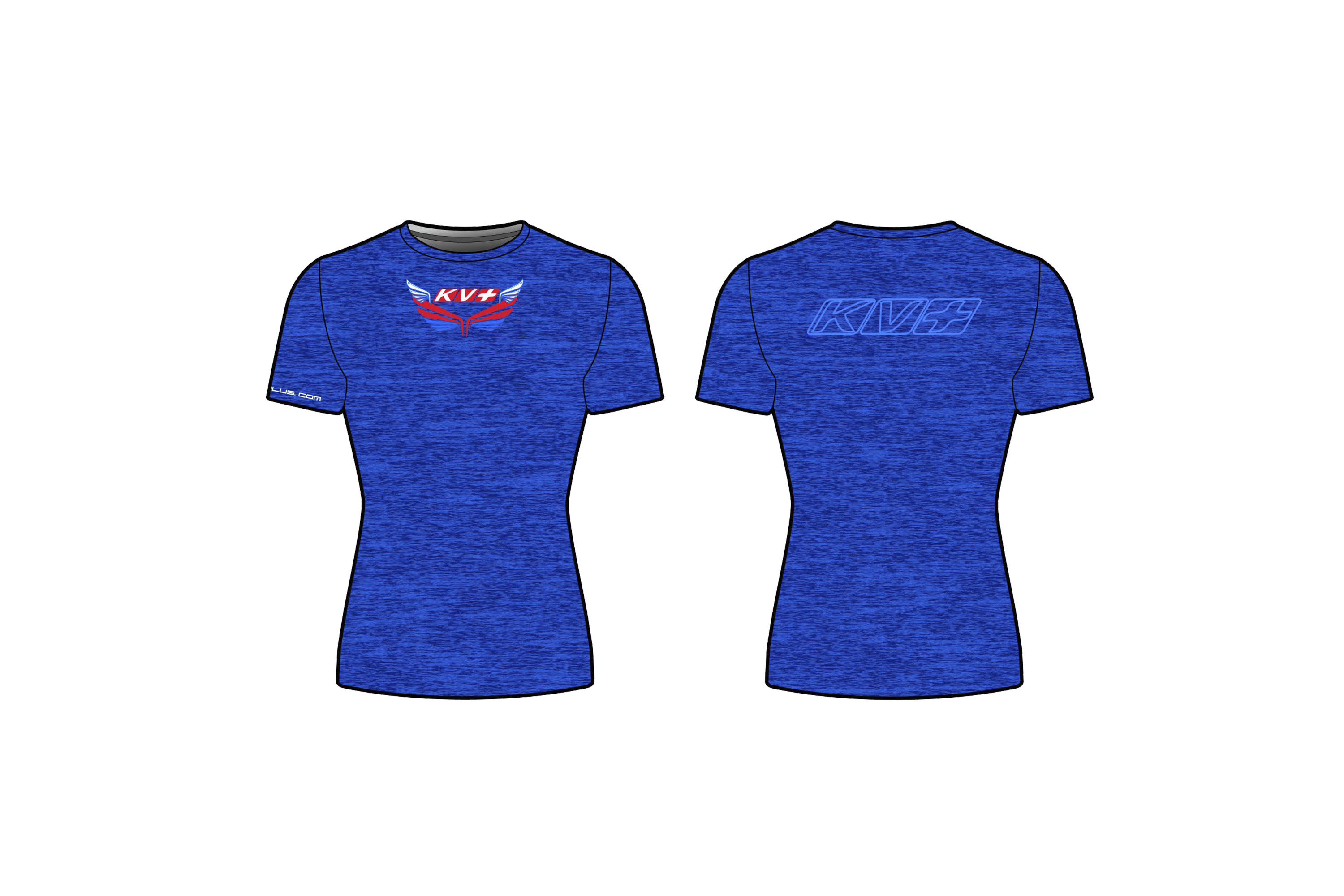 KV+ T-SHIRT WOMAN with short sleeve (blue)