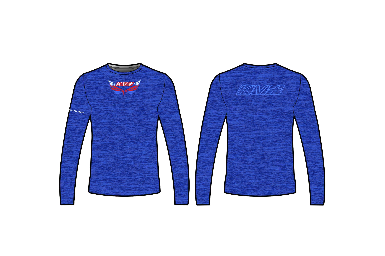 KV+ T-SHIRT Man with long sleeve (blue)
