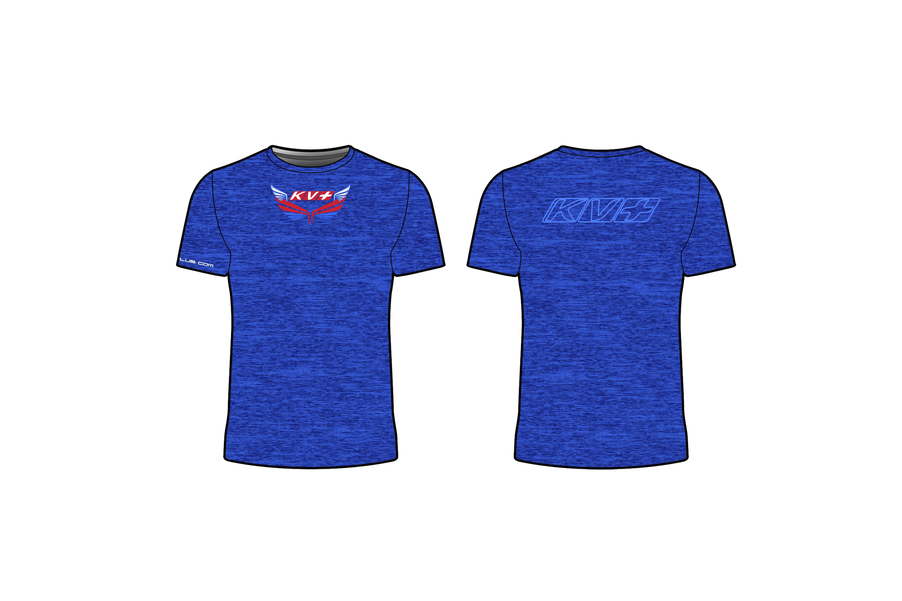 KV+ T-SHIRT MAN with short sleeve (blue)