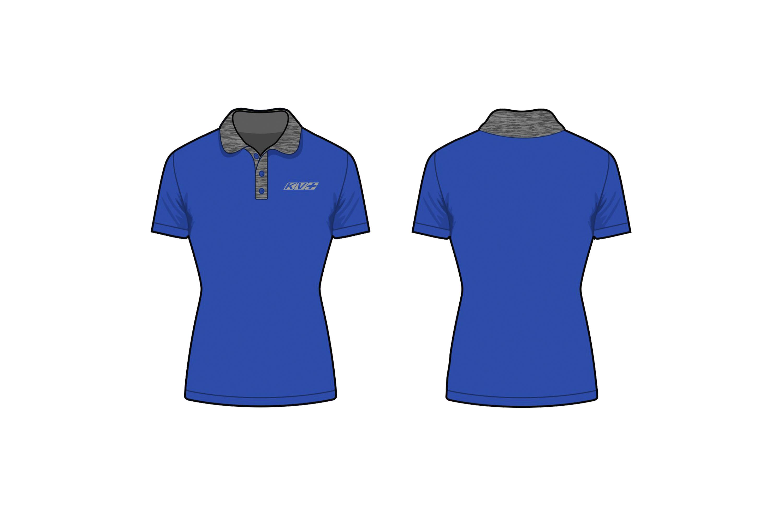 KV+ POLO WOMAN with short sleeve (blue)