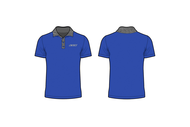 KV+ POLO MAN with short sleeve (blue)