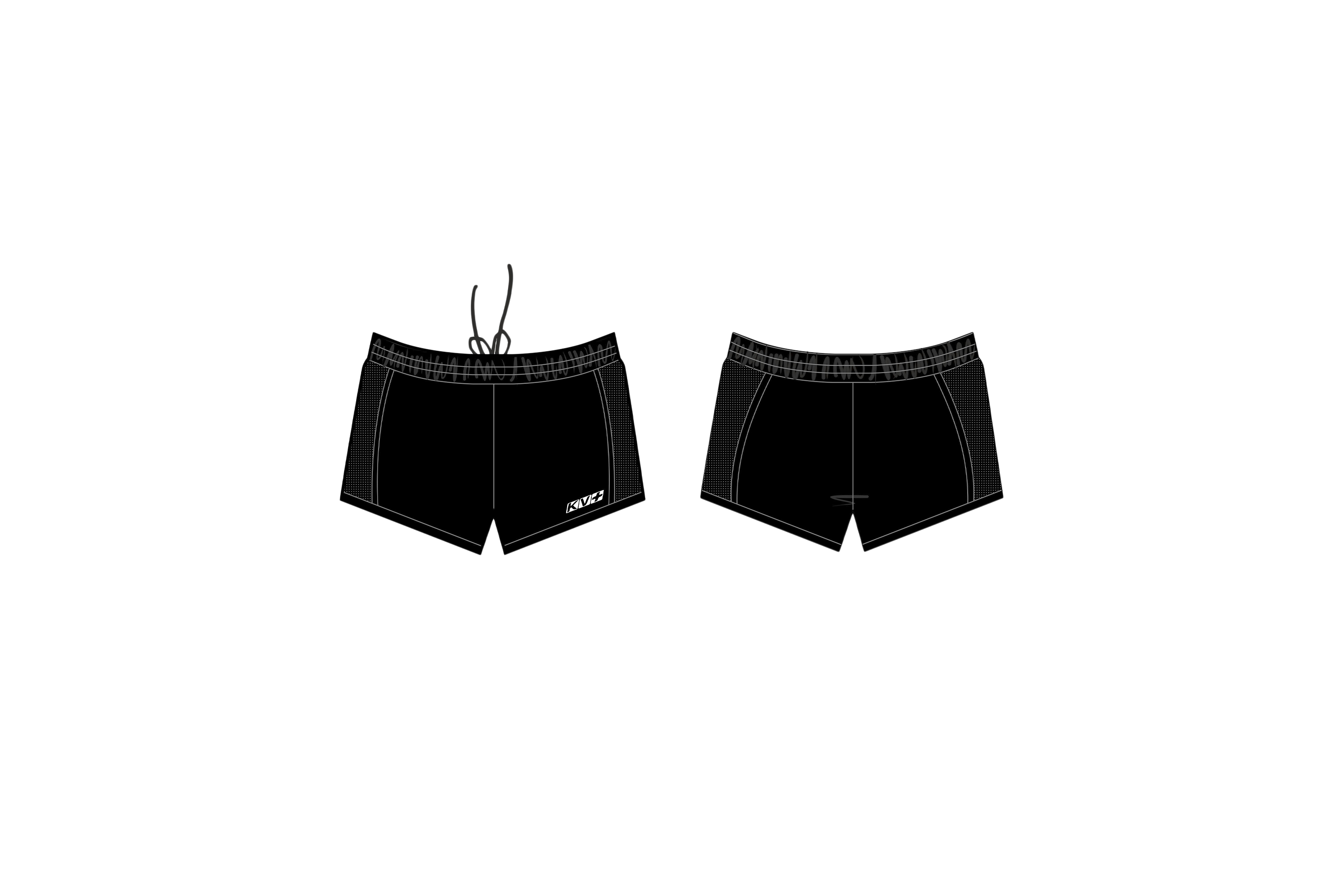 ARENA RUNNING SHORTS MAN (black)