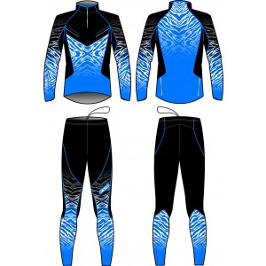 PREMIUM TWO PIECES SUIT UNISEX (blue/black)