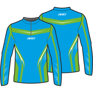 SPRINT JERSEY UNISEX with front zipper (blue/green)