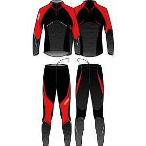 PREMIUM TWO PIECES SUIT UNISEX (red/black)