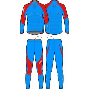PREMIUM TWO PIECES SUIT UNISEX (red/blue)