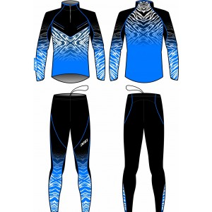TORNADO TWO PIECES SUIT UNISEX (blue/black)
