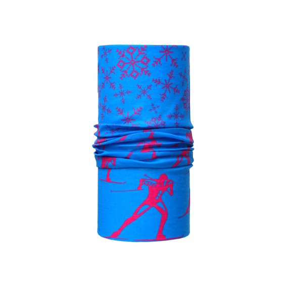 BANDANA  SKIER (blue/pink)