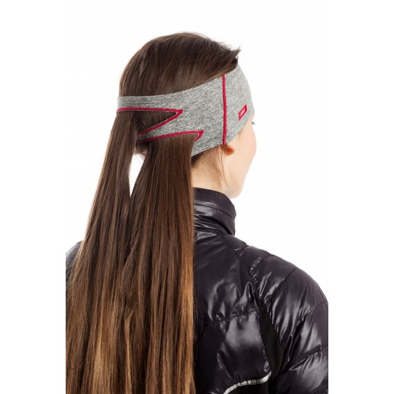 FOX HEADBAND  (grey/perple)