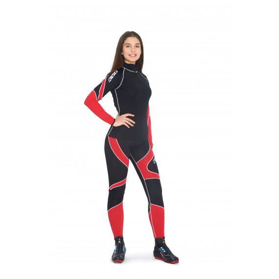 LAHTI TWO PIECES SUIT UNISEX (black/red)