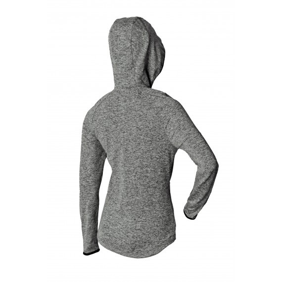 JERSEY FOCA woman with hood (gray/black)